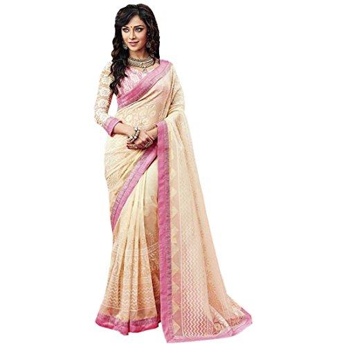 Radhika Sarees Brasso Saree(Rs_3688_Ghostwhite_Off-White)
