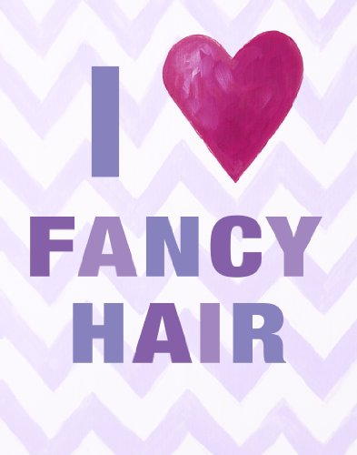 Cici Art Factory Wall Hanging, I Heart Fancy Hair Lilac