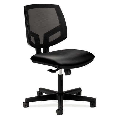 HON Volt Mesh Back Task Chair for Office or Computer Desk, Black SofThread Leather