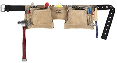 Custom Leathercraft Suede Construction Work Apron/Tool Belt, Heavy Duty
