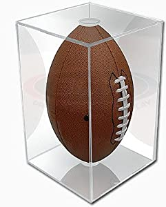 NFL - NCAA BallQube Football Holder Sports Memorabilia Display Case