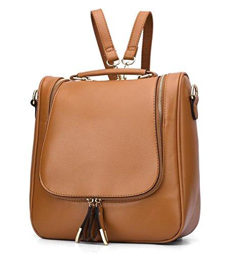 GQQ NUOVE borse a tracolla borse moda PU Dacron per Shopping Party e sul posto di lavoro fino a 5 L GQ borsa @ , brown