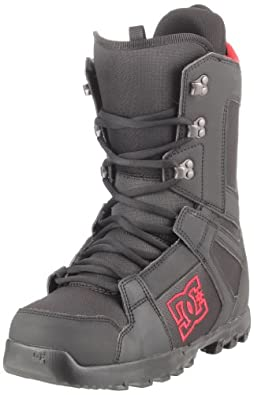 DC Men's Phase 2012 Performance Snowboard Boot,Black/Red,7 M US