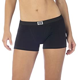 Hanes® Vintage Boy Shorts 2-pk. - Black