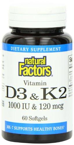 Natural Factors Vitamin K & D - 60 Softgels