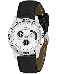 LOGWIN Synthetic Leather Casual Wrist Watch For Men