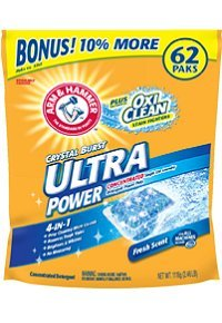Arm & Hammer Ultra Power Plus Oxi-Clean Detergent, 62 Count