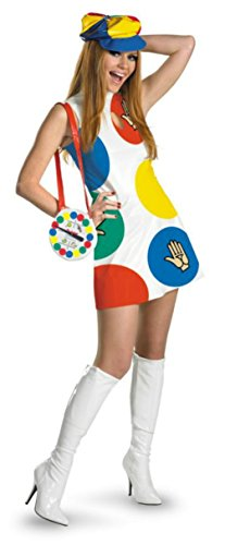 Disguise Womens Deluxe Comical Games Twister Sassy Adults Halloween Costume