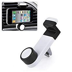 Universal Car Air Vent Mobile Phone Mount Holder Dock compatible with iPhone 6/5S/5C/4s, Samsung Galaxy Note 2/3/4 Galaxy S5, S4, S3, LG G3 G2, HTC One M7 M8, Nokia Lumia, Nexus 4/5, Blackberry and other smartphones (White)
