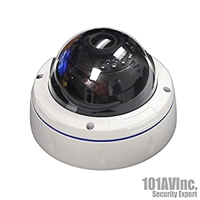 "1000TVL CCTV Outdoor IR Dome Camera 1/3"" SONY 1.4 Megapixel CMOS Sensor 2.8-12mm Varifocal Lens 100 feet Smart IR Range 18pcs Infrared LEDs WDR Wide Dynamic Range OSD Control Weatherproof Vandal proof Metal Housing High Resolution Color Wide Angle View Da"