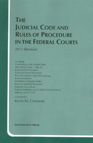 The Judicial Code and Rules of Procedure in the Federal Courts, 2011