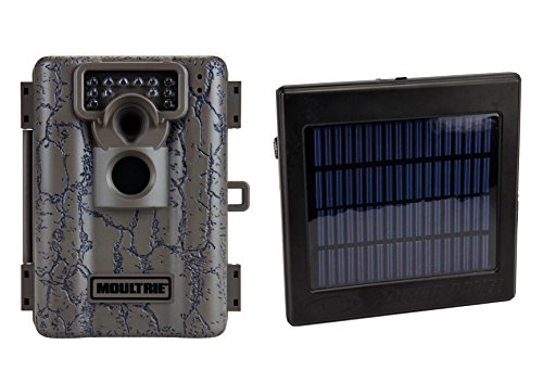 Moultrie Game Spy A-5 Low Glow 5Mp Digital Trail Game Camera + Solar Power Panel