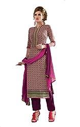 Om Creation Multicolor Embroidered cotton Salwar Suit HS11