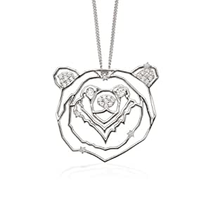 OAK's The Great Bear Pendant in Sterling Silver with Diamonds on an 18 Inch Chain