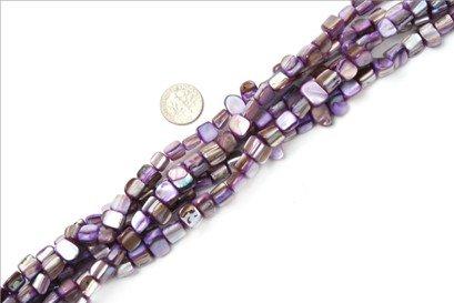 8mm--9mm gemstone light-purple shell beads strand 15