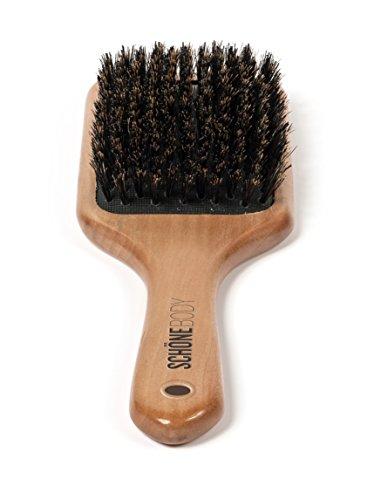 Schöne Body Beech Wood, Wild Boar Bristle Hair Brush (Paddle hair brush) (Natural Wood Hair Brush compare prices)