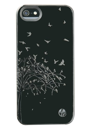 Trexta 18135 Nature Series Snap-On Leather Case for iPhone 5 & 5s - Retail Packaging - Black