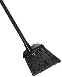 Rubbermaid Commercial Lobby Pro Broom,  Polyethylene Bristles, 28 Inch Metal Handle, Black/Yellow (637400BLA)