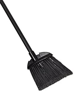 Rubbermaid Commercial Lobby Pro Broom,  Polyethylene Bristles, 28 Inch Metal Handle, Black/Yellow (637400BLA)
