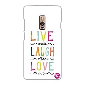 Designer OnePlus Two Case Cover Nutcase-Live Laugh Love