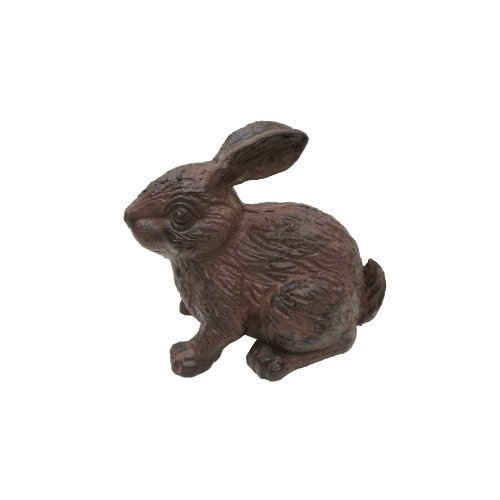 NACH (NACHB) XH-4838BR Cast Iron Bunny Statue, Antique Rust