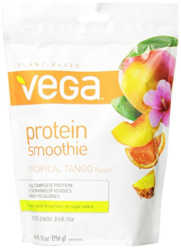 Vega Protein Smoothie, Tropical Tango, Pouch, 9 Oz. front-920470