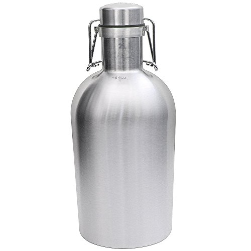 Kegworks Stainless Steel Beer Growler - 64 Oz