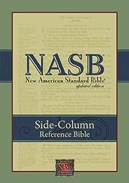 NASB Update Side-Column Reference; Black Genuine Leather