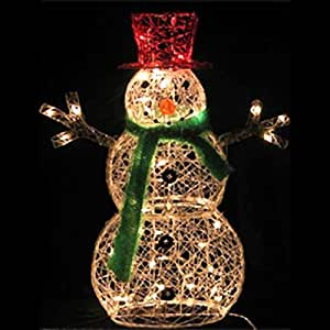 32 inch lighted snowman christmas lawn for Outdoor light up ornaments