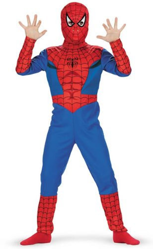 Child's Spiderman Costume (Size:Plus Size 7-10)