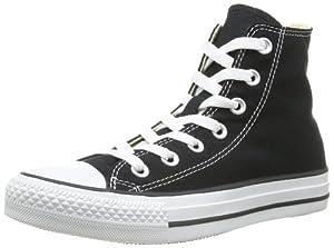 Converse Chuck Taylor All Star Core Hi - Botines de lona unisex, color negro, talla 39.5