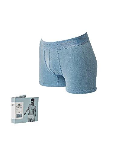 Lacoste Pique Boxershort Uomini cotone Tronco, Modal elasticizzato tinta unita - grigio blu: : Medium
