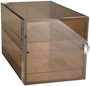 "Bel-Art Scienceware 420650001 Bronze Acrylic Desiccator Cabinet, 9"" Length x 9"" Width x 16"" Height"