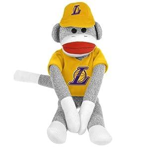 NBA Los Angeles Lakers Uniform Sock Monkey at 'Sock Monkeys'