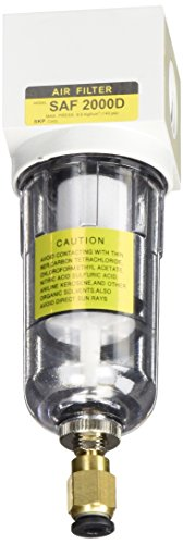 PneumaticPlus SAF2000M-N02BD Miniature Compressed Air Particulate Filter 1/4
