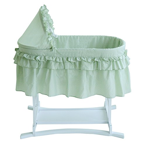 Lamont Limited Home Bassinet, Half Skirt, Sage