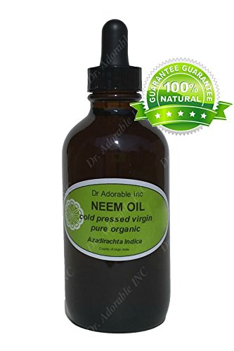 Neem Oil For Skin And Hair 1.1 Oz Amber Glass Bottle With Glass Dropper front-842133