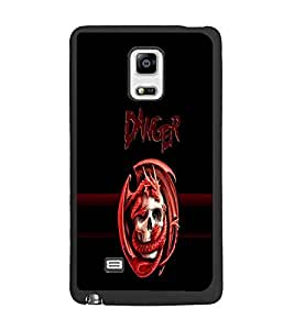 PrintDhaba Danger D-4262 Back Case Cover for SAMSUNG GALAXY NOTE 4 EDGE (Multi-Coloured)