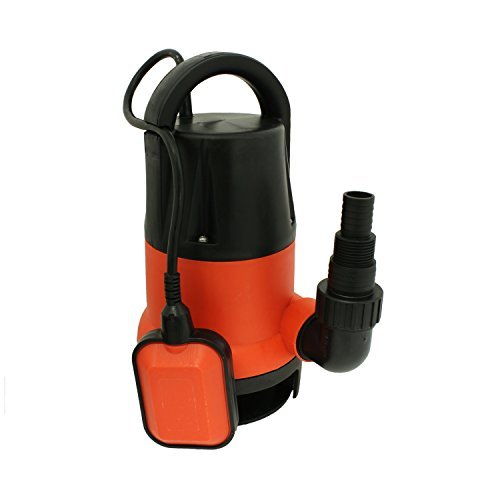 ALEKO AP202-1 Submersible Dirty/Clean Water Pump 1 HP 3560 Galons Per Hour with Float Switch Drain Pump, Red Plastic Housing