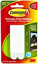 Command Large Picture Hanging Strips, 17206 (Each Pack contains 4 Sets)