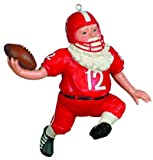 Football Santa Christmas Ornament