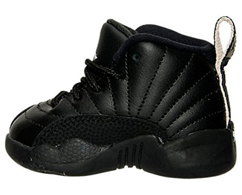 Nike Air Jordan Retro 12 THE MASTER Infant Toddlers Black Rattan White Metallic Gold 850000-013 (4)
