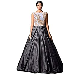 bridal collection grey fancy Embroidered gown