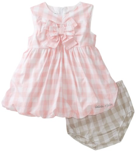 Calvin Klein Baby-girls Newborn Sleeveless Dress With Panty