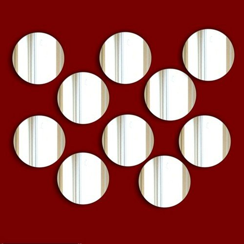 Decorative embellishments- CIRCLE Shatterproof Acrylic Mirror SALE* Wall Decorations- Pack of 10 (1.5cm. Each) ***EXCLUSIVE TO MIRRORS-INTERIORS ***