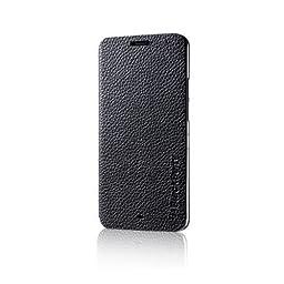 Genuine RIM BlackBerry Z30 Black Leather Flip Case - ASY-55473-001 (Not Compatible with Verizon Version)