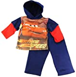 Disney Toddler Boys Cars Nothing But Speed Fleece Blue Tricot Track Top&Pants