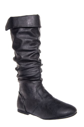 Kenneth Cole Kid'S Jump Dip Tall Ruched Saddle Boot