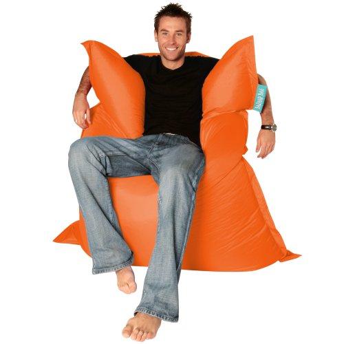 BAZAAR BAG ® - Giant Beanbag ORANGE - Indoor & Outdoor Bean Bag - MASSIVE 180x140cm - GREAT for Garden