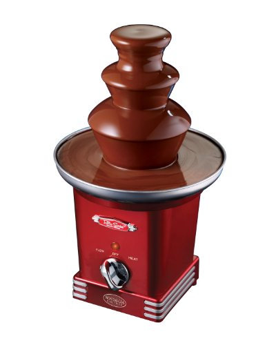 Great Deal! Nostalgia RFF600RETRORED Retro Series '50s Style 3-Tier Chocolate Fountain